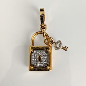 Juicy Couture lock and key charm